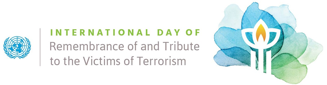 Graphic of the Logo for International Day of Remembrance and Tribute to the Victims of Terrorism 2021