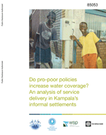 Do pro-poor policies increase water coverage? An analysis of service delivery in Kampala's informal settlements.
