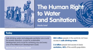 Media brief on the human right to water and sanitation