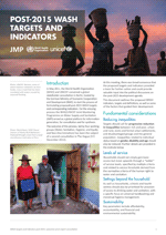 WASH Post-2015 proposed targets and indicators for drinking-water, sanitation and hygiene.