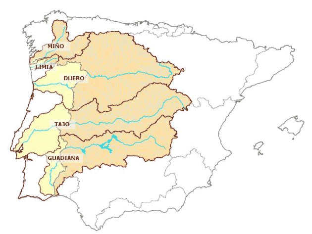 Map Of Spain Rivers.Spanish Portuguese Albufeira Convention Cases On Water Cooperation