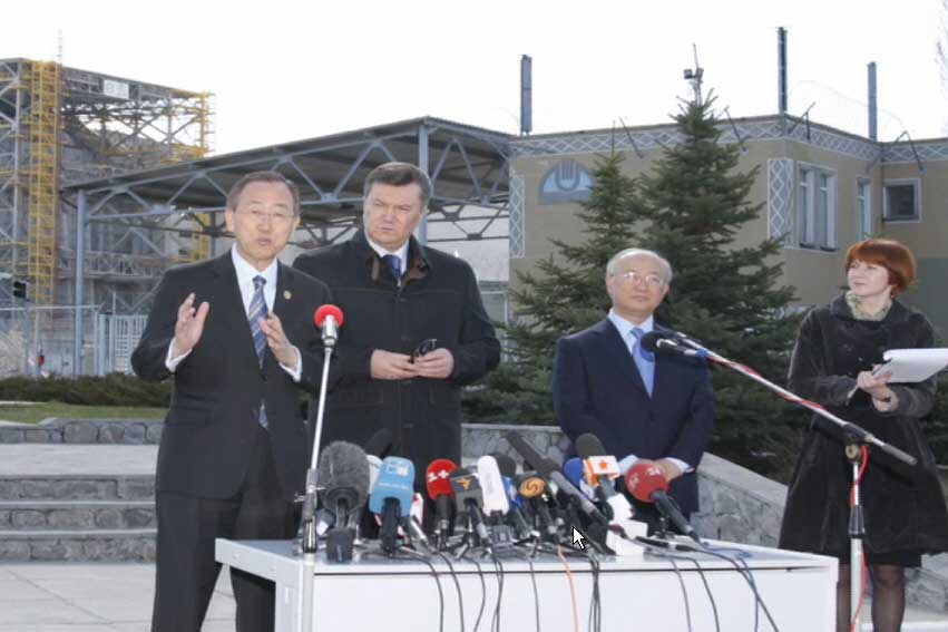 At Chernobyl disaster site, Ban stresses need for 'new chapter' for affected region