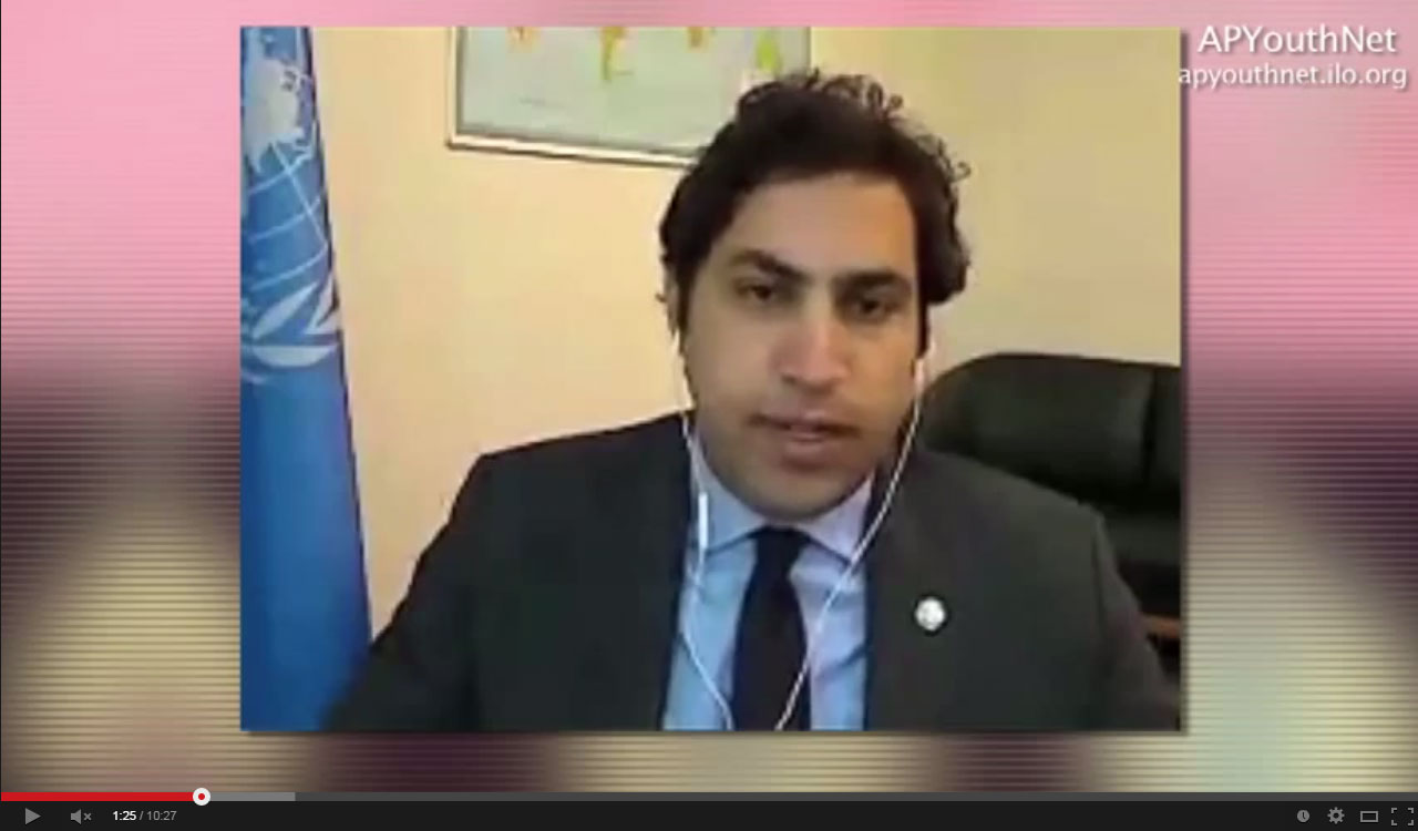 Ahmad Alhendawi ahmad alhendawi guest at apyouthnet talk show - office of