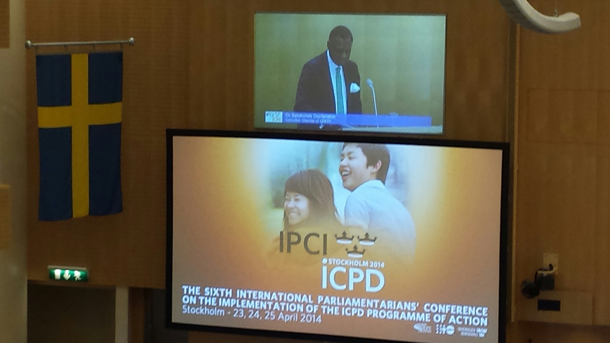 The sixth international parliamentarians' conference on the implementation of the ICPD Programme of Action, with Dr. Babatunde Osotimehin of UNFPA as one of the initial speakers. The sixth international parliamentarians' conference on the implementation of the ICPD Programme of Action, with Dr. Babatunde Osotimehin of UNFPA as one of the initial speakers.