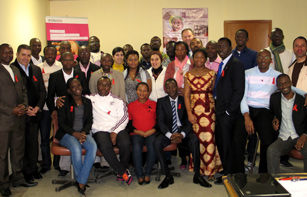 Students that have completed the course on HIV as part of their Master's Degree in International Health at the SenghorUniversity. Credit: SenghorUniversity
