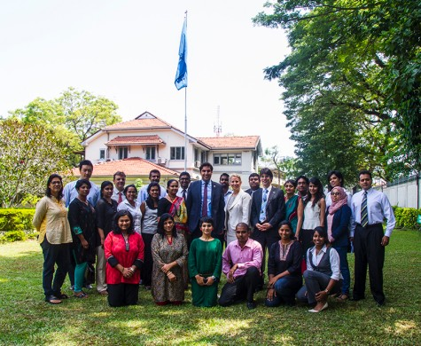 Ahmad Alhendawi with the member of the UN Country Team in Sri Lanka