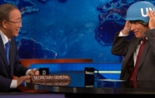 UN Secretary-General Ban Ki-moon on The Daily Show with Jon Stewart
