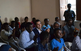 Ahmad Alhendawi in Somalia with youth
