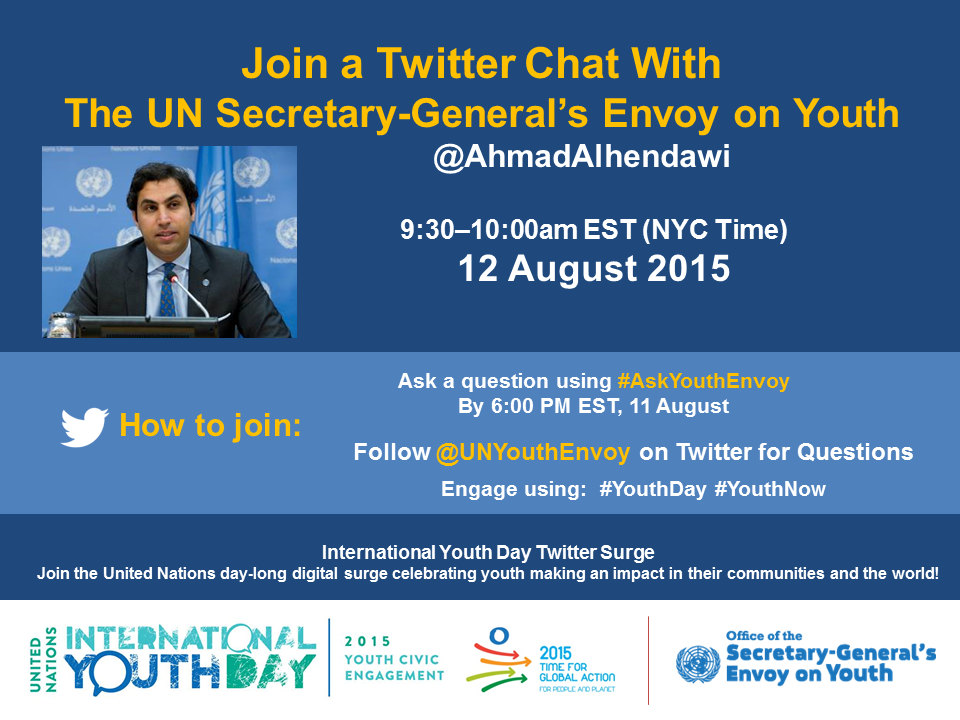 IYD Twitter Chat Promo Ask Youth Envoy