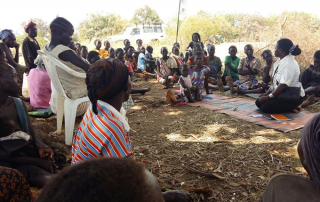 A women''s meeting in South Sudan. A free online course is helping aid workers improve safety and services for women and girls. © UNFPA South Sudan/Harriet Adong