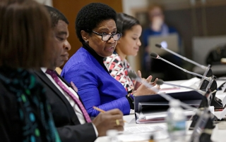 "UN Women Executive Director Phumzile Mlambo-Ngcuka speaks at the event ""The Roadmap for Substantive Equality:2030"" held at United Nations Headquarters on 14 February 2017. Photo: UN Women/Ryan Brown"